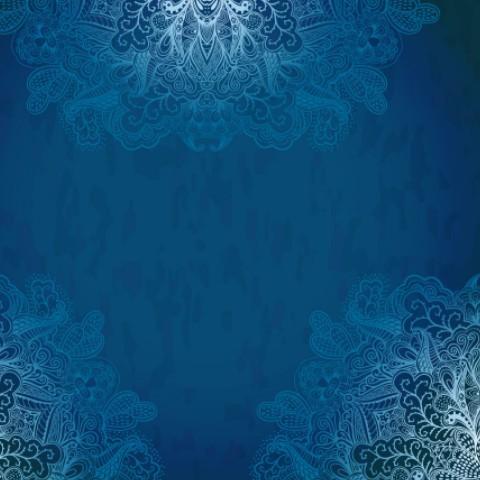 3d Wallpaper Free Download African Grey Free Vintage Blue Florals Pattern Background Vector 03