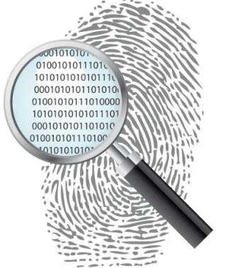 Black adn White Fingerprint Vector 02
