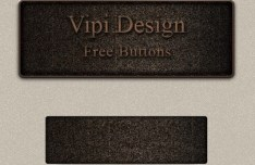 Brown Web Button PSD