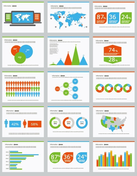Clean and Colorful Vector Infographic Elements