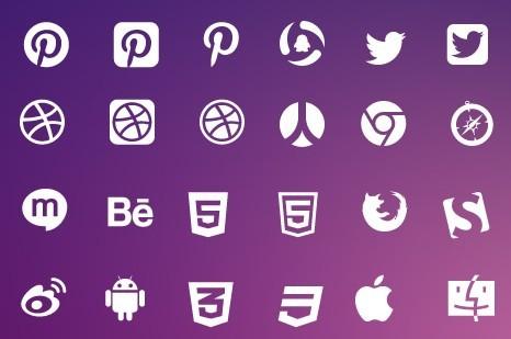 Vector Elegant Social Media Icons