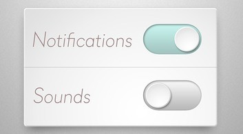 Clean Toggle Sliders PSD
