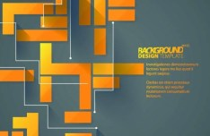 Creative Vector Background with Yellow and black Cubes 05