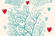 Hand Drawn Wedding Invitation Card Design Template 01