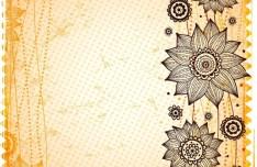 Vintage Hand Drawn Floral Frame Vector Illustration 02
