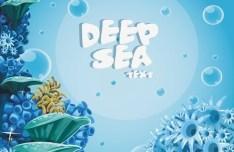 Cute Cartoon Marine Background Vector 02
