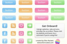Easter Candy Web Buttons PSD