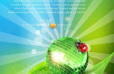 Vector Green Earth Concept Background 01