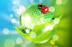 Vector Green Earth Concept Background 02
