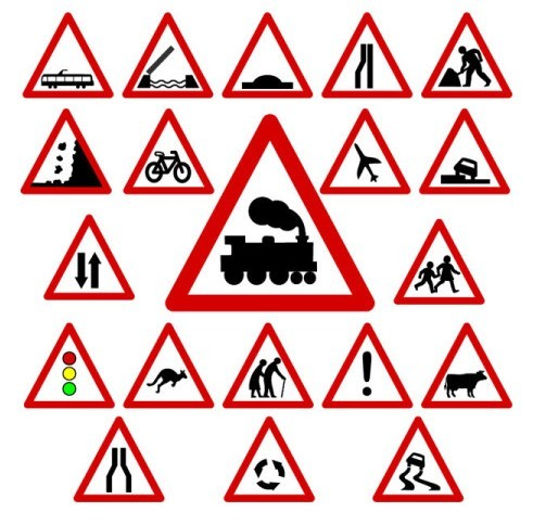 Vector Traffic Signs and Symbols 01
