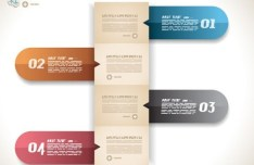 Colored Numeric Labels For Infographic 05