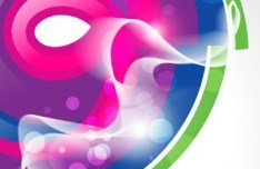 Colorful Abstract Waves Background Vector 02