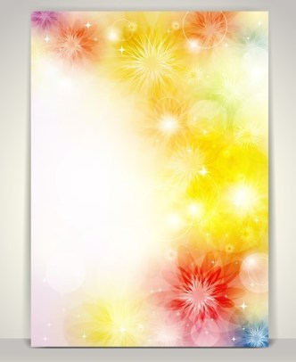 Beautiful Shining Floral Background Vector 01
