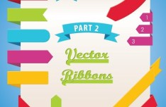 Set of Colored Vector Ribbons 03
