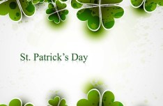 St.Patrick's Day Green Leaves Background Vector