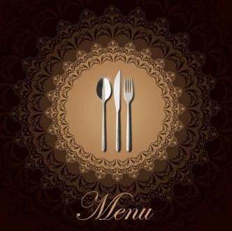 Stylish Restaurant Menu Vector 03