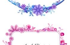 Vector Elegant Floral Borders and Frames
