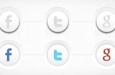 3D Social Media Buttons Vector