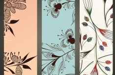 Beautiful Vector Banners with Floral Backgrounds 04