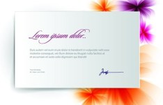 Vector Clean Blank Card Template 03