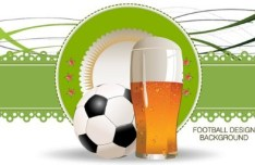 Vector Football Design Background 02