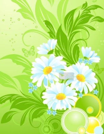 Colorful Spring Flowers Vector Background 03