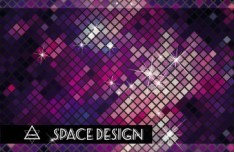 Bright Mosaic Vector Background 01