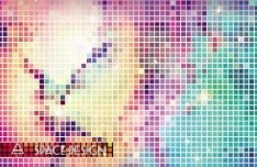 Bright Mosaic Vector Background 03