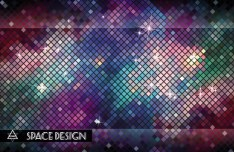 Bright Mosaic Vector Background 05