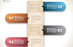 Colored Numeric Labels For Infographic 11