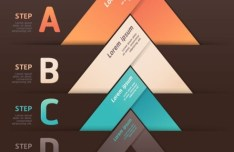 Colored Numeric Labels For Infographic 17