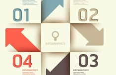 Colored Numeric Labels For Infographic 24