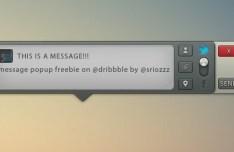 Message Pop-Up GUI PSD