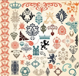Set Of Colored Vector Totem Patterns 02