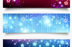 Set of Abstract Technology Vector Banners 03