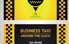 Vector Taxi Driver Business Card 04