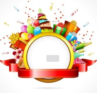 Cartoon Happy Birthday Elements Vector 03