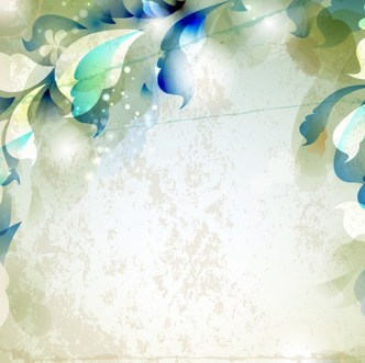 Elegant Leaves and Floral Background Vector 03
