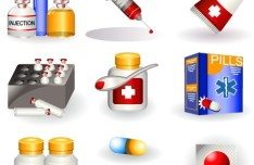 Vector 3D Medical Supplies Icons 04