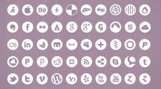 White and Dark Minimal Social Icons Pack