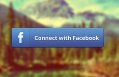 Connect With Facebook Button PSD