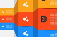Colored Numeric Labels For Infographic 31