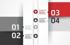 Colored Numeric Labels For Infographic 32