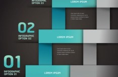 Colored Numeric Labels For Infographic 33
