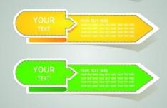 Colored Sticker Label Design Vector 05