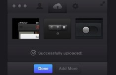 Stylish Dark Upload Interface PSD