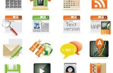 Vector Candy Web Application Icons