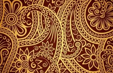 Vector Vintage Invitation Cards with Golden Lace Backgrounds 01
