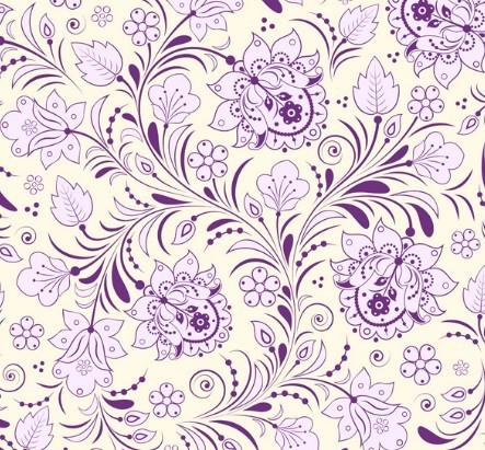 Elegant Hand Drawn Flowers Pattern Vector 01