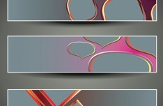 Set of Vector Abstract Geometry Banners 01